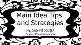 Main Idea Tips and Strategies