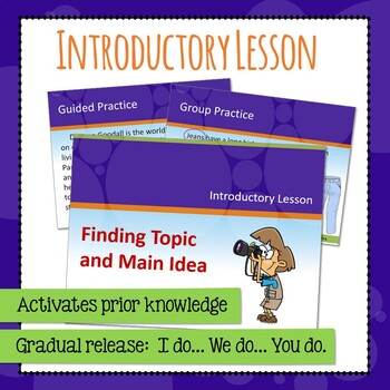 Main Idea - Topic - Stated - Implied PowerPoint by All-Star ELA | TpT
