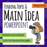 Main Idea - Topic - Stated - Implied PowerPoint