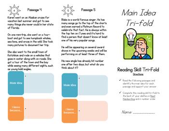 Main Idea Tri-fold