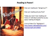 Main Idea Tutorial:  Reading is Power!  The Slave Codes, and Frederick Douglass