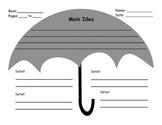 Main Idea Umbrella Graphic Organizer