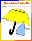 Main Idea Umbrella Graphic Organizer and Anchor Chart