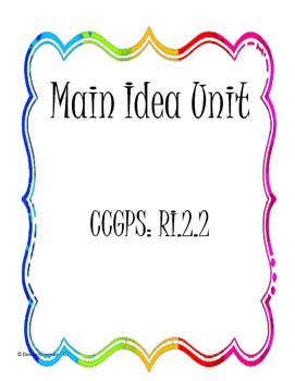 CCSS RI2.2 Main Idea Unit - No Prep for 5 days.