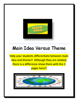 Main Idea Versus Theme