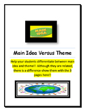 Main Idea Versus Theme