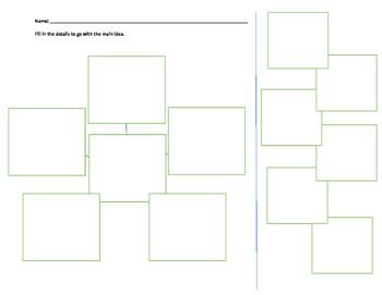 Main Idea Web - Template