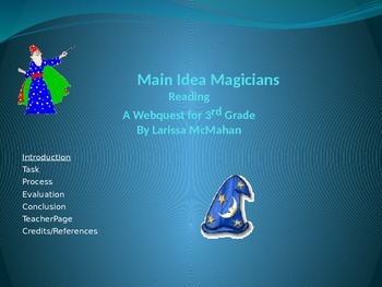Main Idea Webquest