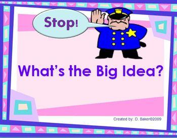 Main Idea - What's the Big Idea Power Point Presentation