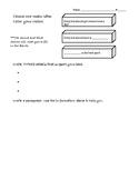 Main Idea Worksheet Activity