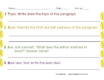 Main Idea Worksheet: Pair with ANY text!