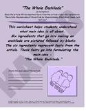 Main Idea Worksheet, The Whole Enchilada
