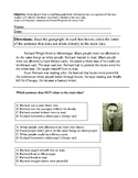 Main Idea Worksheets; Literary & Informational; Modified f