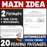 Main Idea Task Cards & Worksheets (Intermediate)