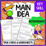 Main Idea Task Cards & Worksheets (Intermediate)