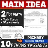 Main Idea Task Cards 2nd Grade {Dollar Deals}