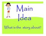 Main Idea Worksheets and Classroom Sign