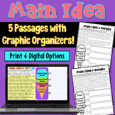 Main Idea Worksheets with Graphic Organizers (grades 2-3)