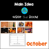 Halloween and October Write the Room: Main Idea