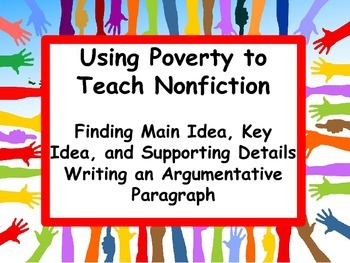 Main Idea and Argumentative Writing: Poverty and Community Involvement