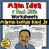 Main Idea and Best Title Worksheets- Martin Luther King (t