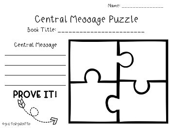 Main Idea and Central Message Puzzle (Bundle)