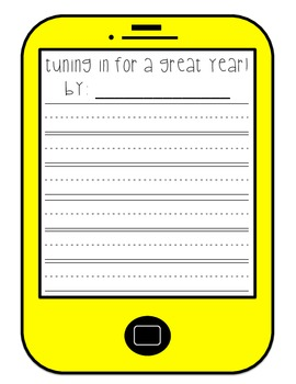 Beginning of the Year Writing Craftivity {Tuning in for a Great Year}