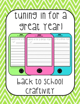 Beginning of the Year Writing Craftivity {Tuning in for a