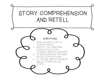 Main Idea and Detail Story Retell