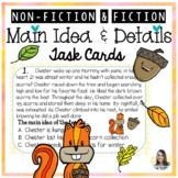Main Idea and Detail Task Cards (Fall theme)