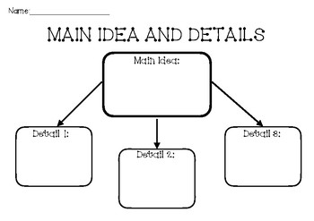 Main Idea and Detail Worksheets