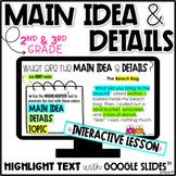 Main Idea and Details (DIGITAL & PRINT)