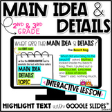 Main Idea and Details (2nd & 3rd Grade) | Distance Learning