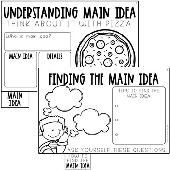 Main Idea and Details Activities Booklet