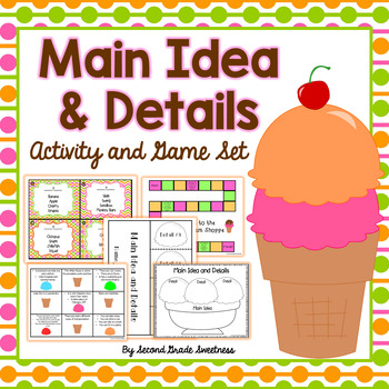 Main Idea and Details Activities Pack