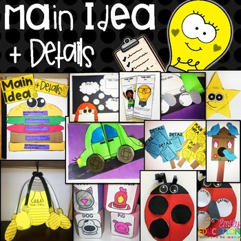 Main Idea and Details Activities for the whole year!
