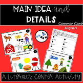 Main Idea and Details Activity: An ELA Center or Game