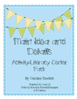 Main Idea and Details Activity/Literacy Center Pack