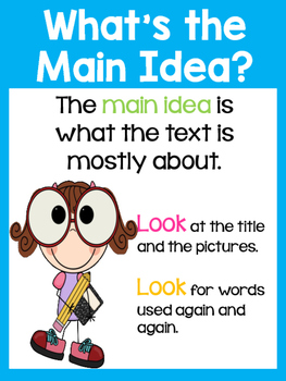 Main Idea and Details Anchor Charts