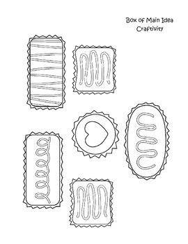 Main Idea and Details Box of Chocolates Reading Craftivity!