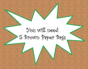 Main Idea and Details Brown Paper Bag Activity