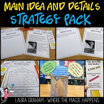 Main Idea and Details Strategy Pack RI.1.2 RI.2.2 Science Passages
