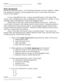Main Idea and Details - Common Assessment