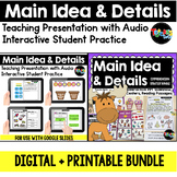 Main Idea and Details: DIGITAL + PRINTABLE Bundle