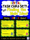 Main Idea and Details Digital Task Cards (for Google Drive)