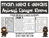 Main Idea and Details Escape Room
