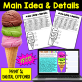 Main Idea and Details  FREEBIE: 2 Passages   PDF and Digital  