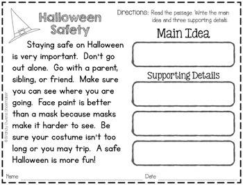 Main Idea and Details: Fall