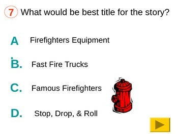 Main Idea and Details Fire Fighter