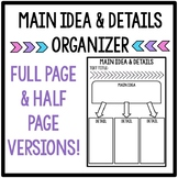 Main Idea and Details Graphic Organizer